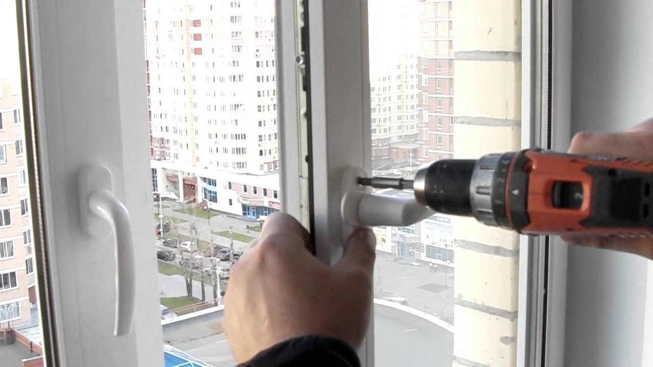 Быстрая замена ручек на пластиковых окнах
